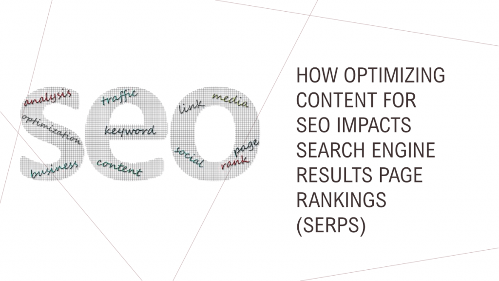 How Optimizing Content for SEO Impacts Search Engine Results Page Rankings (SERPs)